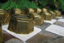 Русские шахматы из бронзы